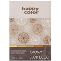 Bloki, Blok Deco Brown A4, 5 kolorów tonacja brązowa 5 sztuk