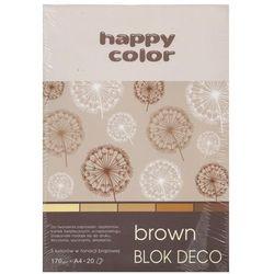 Blok Deco Brown A4, 5 kolorów tonacja brązowa 5 sztuk