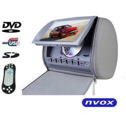 """NVOX JHT9008D GR Zagłówek multimedialny z maskownicą 9"""" cali HD DVD USB SD AV IR FM GRY"""