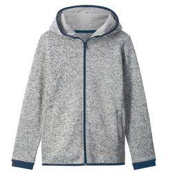 Bluza rozpinana z dzianiny z polarem bonprix jasnoszary melanż
