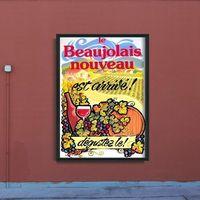 Plakaty, Plakat w stylu retro Plakat w stylu retro Plakat z winem Nowy Beaujolais Nouveau