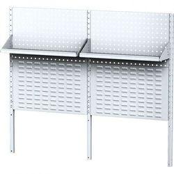 Nadbudowa do stołów MECHANIC II z panelami na narzędzia, pojemniki, półkami, długość 1500 mm