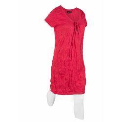 Długa tunika z kreszowanego materiału + legginsy 3/4 bonprix czerwony