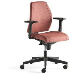 Krzesło biurowe LANCASTER, niskie oparcie, śliwkowy