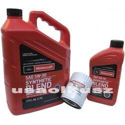Oryginalny filtr oraz syntetyczny olej silnikowy Motorcraft 5W30 Lincoln MKS 3,5 V6 2011-