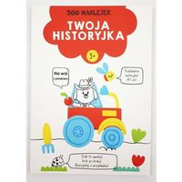 Naklejki, 300 naklejek 3+ twoja historyjka Czerwona - książka