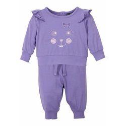 Shirt niemowlęcy + spodnie (2 części), bawełna organiczna bonprix jasny lila