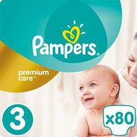 Pieluchy jednorazowe, PAMPERS Premium Care 3 MIDI 80 szt. (4-9 kg) JUMBO PACK- pieluszki jednorazowe