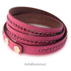 Biżuteria Swarovski: Bransoletka z kryształów w kolorze Amethyst