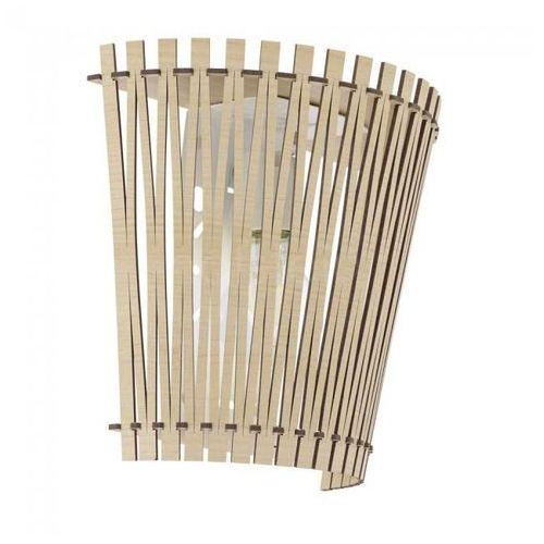 Lampy ścienne, Kinkiet oprawa lampa ścienna Eglo Sendero 1x60W E27 brązowy jasny, nikiel 96195