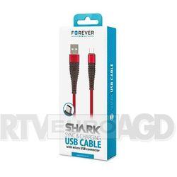 Forever Shark micro-USB (czerwony)