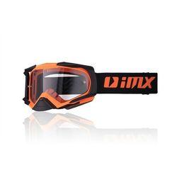 GOGLE IMX DUST - SZYBA DARK SMOKE + CLEAR Orange Matt/Black Matt