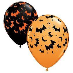 Balony lateksowe Nietoperze i Księżyce - 30 cm - 6 szt.