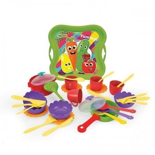 Pozostałe zabawki, Yummy kitchen zestaw naczyń kuchennych 33 elementy