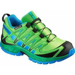 Nowe buty Salomon XA PRO 3D CSWP J Tonic Green/GR/Blue, rozmiar 37/22.5cm