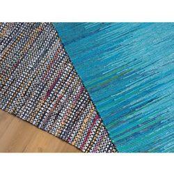 Dywan - niebieski - 140x200 cm - bawełna - handmade - ALANYA