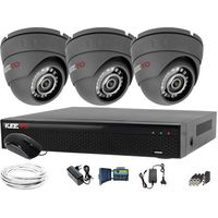 Zestawy monitoringowe, Monitoring do domu 3x kamera IR25m LV-AL25HD + Rejestrator LV-XVR44SE + akcesoria