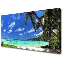 Obraz na Płótnie Palma Drzewo Morze Krajobraz