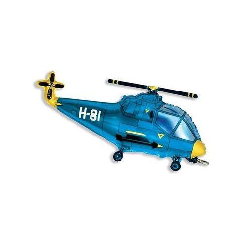 Pozostałe wyposażenie domu, Balon foliowy do patyka Helikopter niebieski - 36 cm - 1 szt.