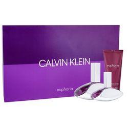 Calvin Klein Euphoria zestaw 100 ml Edp 100 ml + Edp 30 ml + Mleczko do ciała 100 ml dla kobiet