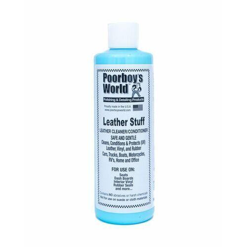 Środki do czyszczenia tapicerki samochodowe, Poorboy's World Leather Stuff 473ml do tapicerki skórzanej