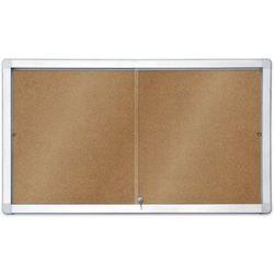Gablota informacyjna 2x3 model 1 – wewnętrzna z przesuwanymi drzwiami korkowa 8xA4(97x70cm)