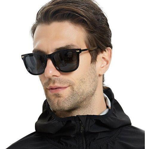 Okulary przeciwsłoneczne, Okulary przeciwsłoneczne męskie polaryzacyjne mat