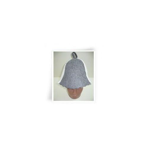Nakrycia głowy i czapki, Czapka biało-szara do sauny