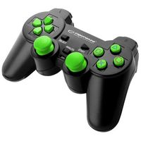"Gamepady, Gamepad PS3/PC USB Esperanza ""Trooper"" czarno/zielony"