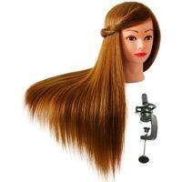 Pozostałe salony fryzjerskie i kosmetyczne, Główka Fryzjerska Głowa Treningowa Włos 60 STATYW