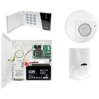 Zestawy alarmowe, Zestaw alarmowy domu Płyta główna CA-4 VP Manipulator CA-4 VKLED 1x Czujka ruchu LC-100 PET do 25kg Sygnalizator wewnętrzny