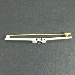 Złota broszka z diamentami W741