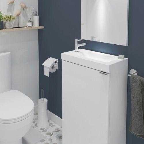 Szafki łazienkowe, Szafka pod umywalkę GoodHome Imandra stojąca 44 cm biała