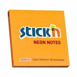 KARTECZKI SAMOPRZYLEPNE STICK'N 76X76 POMAR. NEON