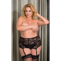 Garterbelt 3320 - Plus Size - black