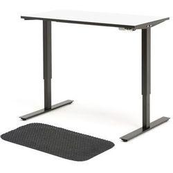 Zestaw mebli biurowych, biurko elektryczne NOMAD i mata
