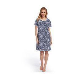 Koszula nocna ciążowa i do karmienia - Kwiecisty Granatowy