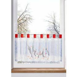 Zazdrostka z bożonarodzeniowym nadrukiem bonprix biało-szaro-czerwony