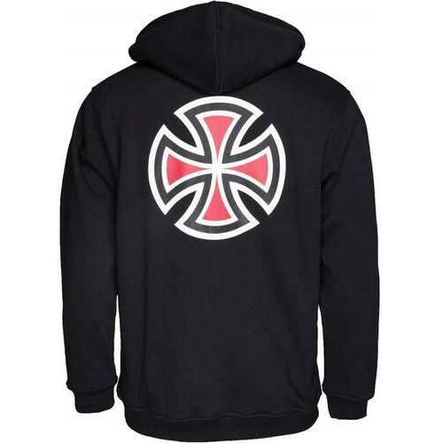 Bluzy męskie, bluza INDEPENDENT - Bar Cross Hood Black (BLACK) rozmiar: M