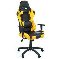 Fotele dla graczy, Fotel gamingowy RACER CorpoComfort BX-3700 Żółty