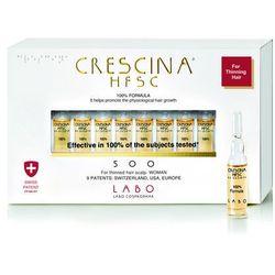 Crescina Re Growth 500 woman faza pośrednia wypadania włosów u kobiet 20 ampułek