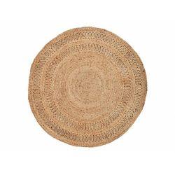 Okrągły dywan w kolorze naturalnym SUNSHINE - 100% juty - Śred. 155 cm