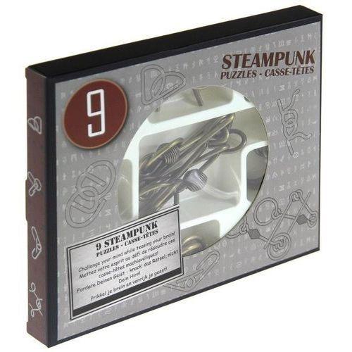 Gry dla dzieci, Łamigłówki metalowe 9 sztuk Steampunk zestaw szary