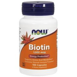 Now Foods Biotyna 1,000mcg 100 kaps.
