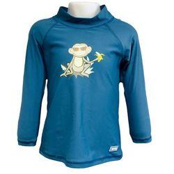 Bluzka kąpielowa koszulka dzieci 92cm filtr UV50+ - Petrol Jungle \ 92cm