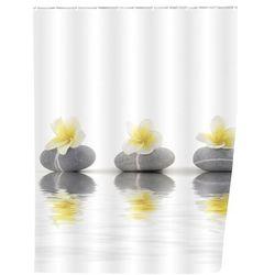 Zasłona prysznicowa, tekstylna, Stones and Flower, 180x200 cm, WENKO