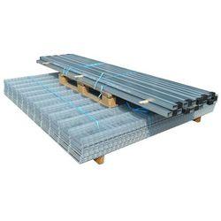 vidaXL Panele ogrodzeniowe 2D z słupkami - 2008x830 mm 30 m Srebrne Darmowa wysyłka i zwroty