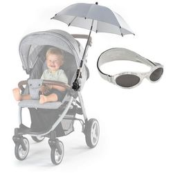 Parasolka UV50+ do wózka REER i okulary przeciwsłoneczne 0-2lat UV-400 BANZ