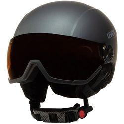 Kask narciarski UVEX - Hlmt 400 Visor Style 5662155005 Titanium Mat