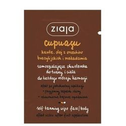 Ziaja Cupuacu Self-Tanning Wipe Face & Body samoopalacz 1 szt dla kobiet